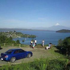 Pedro Gonzalez Puerto Octay... al fondo se ve el Volcan Osorno