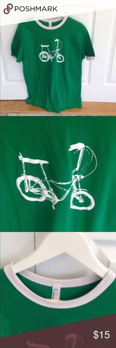 American Apparel t-shirt Cute bike graphic t-shirt. Great condition. 💥Offers welcome💥 American Apparel Shirts Tees - Short Sleeve
