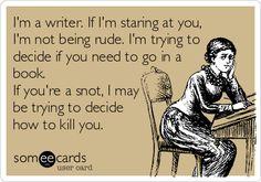 Funny writer lol