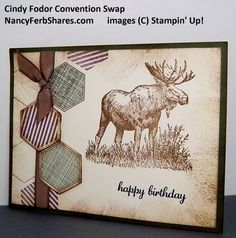 walk+in+the+wild+stampin+up | Walk in the Wild Stamp Set makes a great masculine card!! I love this ...