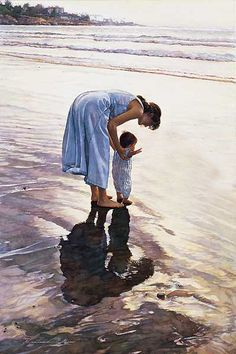 . Watercolour by Steve Hanks. Steve Hanks is recognized as one of the best watercolor artists working today. The detail, color and realism of Steve Hanks' paintings are unheard of in this difficult medium. A softly worn patterned quilt, the play of light on the thin veil of surf on sand, or the delicate expression of a child—-Steve Hanks captures these patterns of life better than anyone.