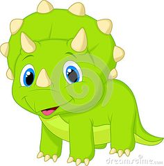 Baby Triceratops Dinosaur Vector Illustration Happy Dino Cartoon Animal Girlish Cartoon Character Cute Baby Triceratops Cartoon Di Stock Vector - Illustration of huge, girl: 56316822 Dinosaur Drawing, Cartoon Dinosaur, Cute Dinosaur, Die Dinos Baby, Baby Dinosaurs, Baby Animals, Cartoon Wall, Cartoon Posters, Cartoon Photo