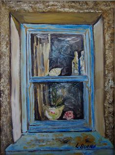 Dust and Cobwebs, Deserted Cottage Window, Gobbins Road, Islandmagee Cottage Windows, Artworks, Ireland, Deserts, Artists, Canvas, Painting, Tela, Painting Art