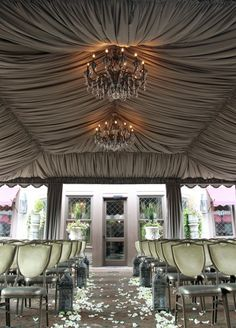 Draped ceiling <3 would love this for the wedding reception