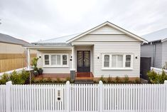 The Block series 13 front facade and garden reveals - The Interiors Addict Moving Out Of Home, Outdoor Landscaping, Outdoor Decor, Landscaping Ideas, Outdoor Living, Metal Garage Doors, Leadlight Windows, Weatherboard House, Queenslander