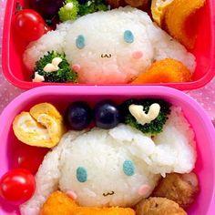 2人同じキャラのリクエストは嬉しい   ☆おむすび☆肉巻きポテト☆コーンクリームコロッケ☆卵焼き☆ベリーA&ピオーネ☆ - 56件のもぐもぐ - Lunch box☆Sanrio Cinnamon シナモン by Ami