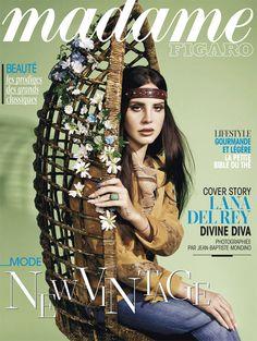 """Lana Del Rey en cover de """"Madame Figaro"""" du 17 janvier 2013"""