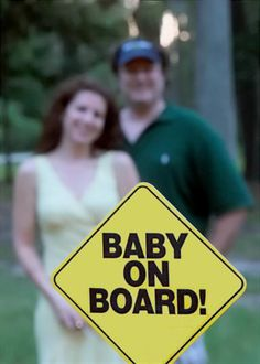 Sign for pregnancy announcement photo.