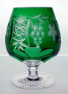 Emerald brandy glass