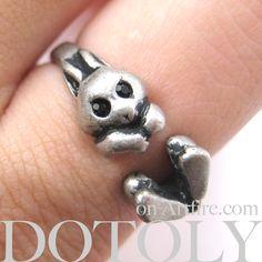 #bunnies #rabbits #animals #jewelry #rings #cute $7