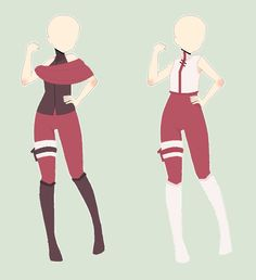 Naruto Outfits Adoptables(all sold) by Hearty-Chann on DeviantArt