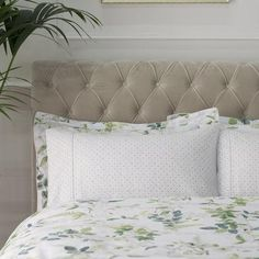 This trellis printed cuffed pillowcase from the opulent Dorma collection is developed with a lavish 300 thread count from cotton. Botanical Bedroom, Botanical Decor, Botanical Gardens, 100 Cotton Duvet Covers, Pattern Fashion, Bed Pillows, Pillow Cases, New Homes, Prints