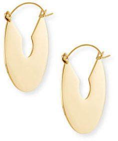 Fallon Flat Plate Hoop Earrings iwGAE