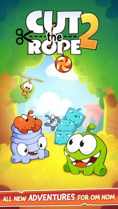 In his unexpected adventure, Om Nom breaks out of his box and travels through lush forests, busy cities, junkyards and underground tunnels, all in pursuit of one goal CANDY! Along the way, he encounters the Nommies, the cutest candy collecting helpers a little green monster could wish for! - See more at: http://localappsgenie.co.uk/games/cut-the-rope-2/#sthash.OMxxr8YP.dpuf