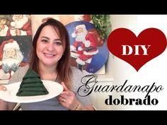 DIY: GUARDANAPO DOBRADO COMO PINHEIRO (fica em pé no prato!!) Camila Cam...