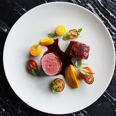 Veal Saltimbocca, Veal Tenderloin Wrapped in a Sage Farce, Wrapped in Prosciutto, Carrot, Onion & a Marsala Jus on the menu @7enoteca by @seanymacd @rafacovarrubias @jordan.wilkie #GourmetArtistry