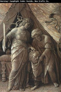 Andrea Mantegna's Paintings.  Painting: Judith and Holofernes