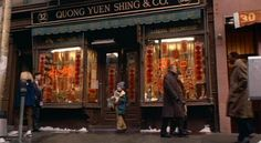 Home Alone 2 location... Kevin Coming Out Of A Store / Quong Yuen Shing And Company; 32 Mott St, New York