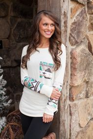 The Lucky One Ivory Sequin Blouse