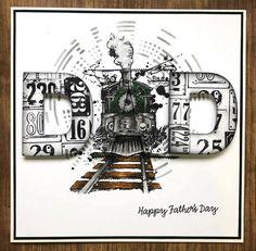 Book Wrap, Art Impressions Stamps, Blue Crafts, Ranger Ink, Art Corner, Birthday Cards For Men, Penny Black, Masculine Cards, My Stamp