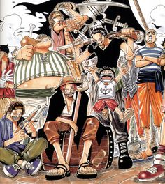 Red hair pirates and Luffy