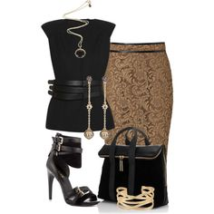 Black, created by hollyhalverson on Polyvore