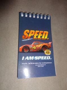 Disney Cars Spiral Notepad Blank  find me at www.dandeepop.com