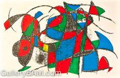 Lithograph II- Plate 3 - Joan Miro