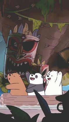 we bare bears Cute Panda Wallpaper, Bear Wallpaper, Wallpaper Iphone Cute, Disney Wallpaper, We Bare Bears Wallpapers, Panda Wallpapers, Cute Cartoon Wallpapers, Ice Bear We Bare Bears, We Bear