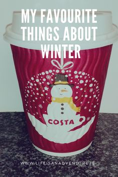 Blog post featuring costa coffee christmas cup
