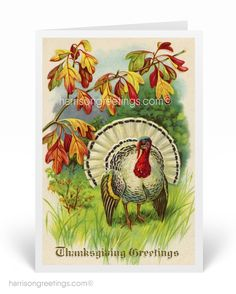 1920s Vintage Thanksgiving Greeting Cards, Victorian Thanksgiving cards, old fashion Thanksgiving greetings