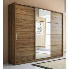 Manhattan Comfort 4 Drawer Bellevue 2 Door Wardrobe - The Bellevue wardrobe is compact and space-saving. Perfect for modern studio apartmen. Bedroom Cupboards, Bedroom Cupboard Designs, Wardrobe Design Bedroom, Sliding Door Wardrobe Designs, 2 Door Wardrobe, Closet Designs, Wood Bedroom, Modern Bedroom, Bedroom Decor