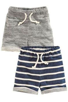 Navy Stripe/Grey Textured Shorts Two Pack Toddler Pants, Toddler Boy Outfits, Toddler Boys, Little Boy Fashion, Kids Fashion Boy, Baby Kids Wear, Danish Fashion, Baby Boy Photos, Kaizen