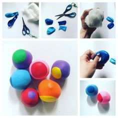 Blood balls, anti-stress balls, kneading ball, cotton ball, swimming ball - Kids' Crafts for Diy and Crafts Diy And Crafts, Crafts For Kids, Arts And Crafts, Anti Stress Ball, Monster Party, Kids And Parenting, Handicraft, Diy For Kids, Kindergarten