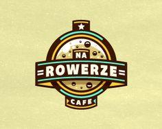 Na Rowerze Cafe Logo Design | More logos http://blog.logoswish.com/category/logo-inspiration-gallery/ #logo #design #inspiration