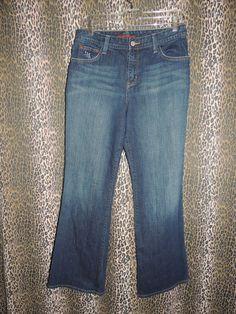Eddie Bauer Women Natural Fit Stretch Whiskers Denim Boot Cut Blue Jeans Size 8? #EddieBauer #BootCut