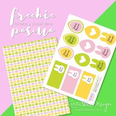 Tarjetitas y etiquetas GRATIS para imprimir y festejar Pascua #easter #printable #free #gratis #imprimible #pascua