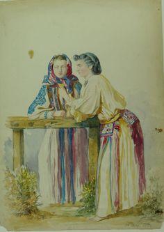 Carol Popp de Szathmari, from Banat (Romania) Folk Costume, Costumes, Romania, Traditional, Painting, Image, Ethnic, Folklore, Military