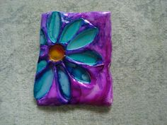 Watercolor on friendly plastic. Could use this as part of a mixed medium auction piece. Each child would create a small mini canvas or panel using various mixed media techniques,