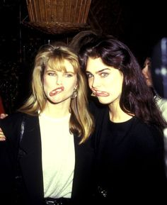 Brooke Shields, a legend for decades (here, in  1987, with Christie Brinkley). See 49 more vintage images of the timeless beauty.