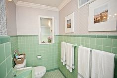 Mint Green Bathrooms Retro Bathroom Downstairs Spa