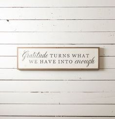 Gratitude Wall Sign