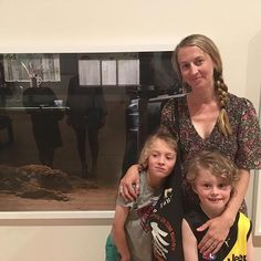 Me and some crazy kids at @bendigoartgallery...  Thrilled to have work acquired by BAG, be in the Collective Vision exhibition and accompanying publication!  #collectivevision #bendigoartgallery #insanitarium #thisplace #motherhood #ISintheframe