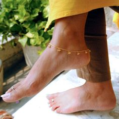 Solid Gold Anklet with Bells, Indian Tribal Gold Bell Bracelet & Anklets, Dainty Boho Jewelry - Beautiful Jewelry Gold Anklet, Anklet Jewelry, Anklet Bracelet, Anklets, Boho Jewelry, Women Jewelry, Jewelry Ideas, Fine Jewelry, Gold Jewellery