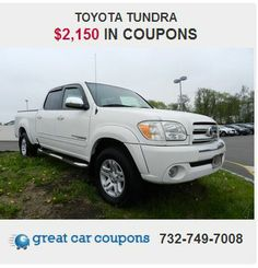 Are you looking for a brilliant value in a vehicle?  Well, with this #gorgeous #Toyota #Tundra , you are going to get it. Also check our #coupon #savings for this vehicle on our website www.greatcarcoupon.com !! #Great  savings available!! #greatcarcoupon #coupons #couponsfortrucks  #njcars #save