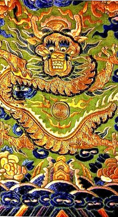 Antique Chinese Silk Embroidery Imperial Dragon Robe Qing Dynasty Embroidered !! #QingDynasty