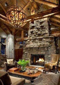 Beautiful Stone Fireplaces hobbit stone fireplace - google search | grandmas dream house