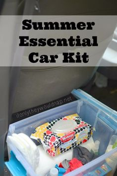 Car Essentials, Summer Essentials, Kit Cars, Car Kits, Car Organization Kids, Camping Organization, Organizing Tips, Road Trip With Kids, Car Hacks