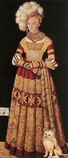Katharina von Mecklenburg, wife of Henry the Pious by Lucas Cranach the Elder, 1514.