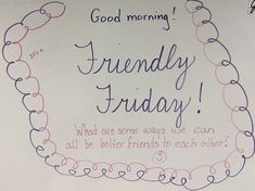 I love this writing prompt and would use it because it is promoting kindness. Journal Topics, Journal Prompts, Journals, Friday Messages, Morning Messages, Morning Board, Friday Morning, Morning Activities, Daily Writing Prompts